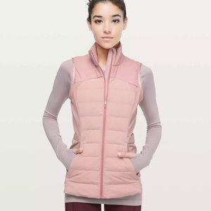 New Lululemon Down For It All Vest Pink Size 0